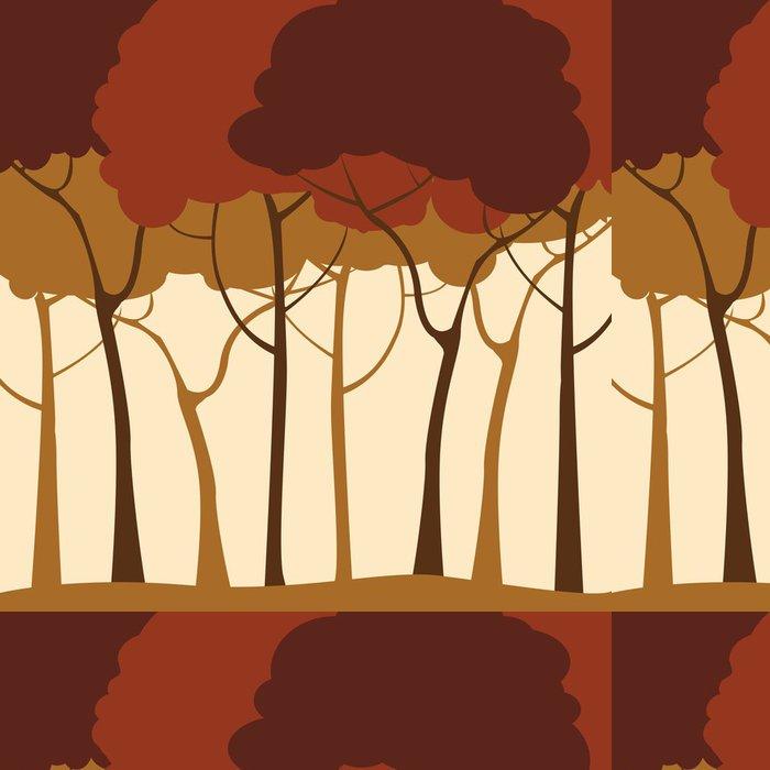Tapeta Pixerstick Lesa v pozadí - Roční období