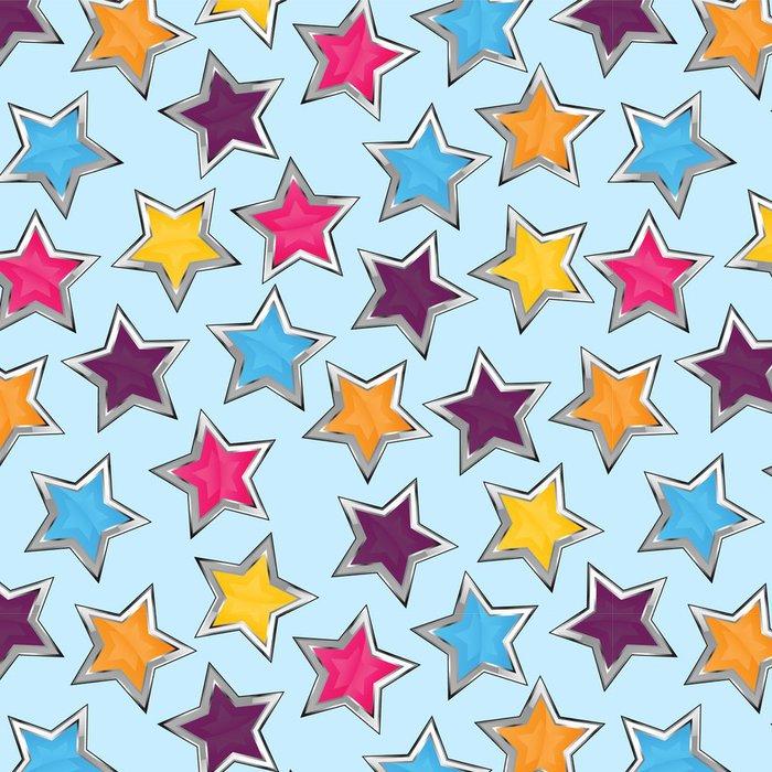Tapeta Pixerstick Lesklé hvězdy bezešvé vzor - Témata