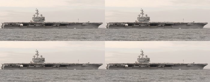Tapeta Pixerstick Letadlová loď na moři - Témata