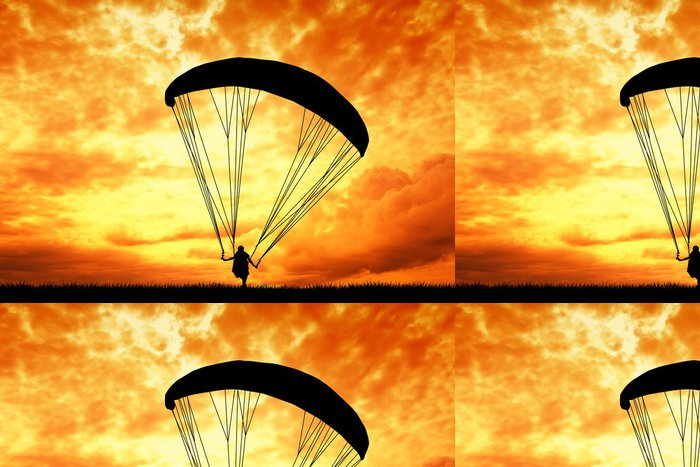 Tapeta Pixerstick Létání na padákovém kluzáku - Extrémní sporty