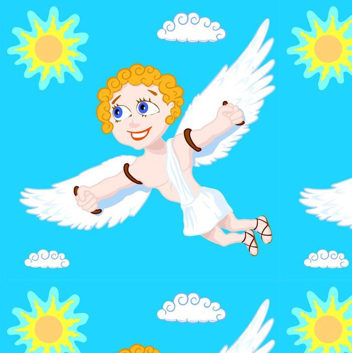 Vinylová Tapeta Létat Šťastný muž v modré obloze - Svoboda