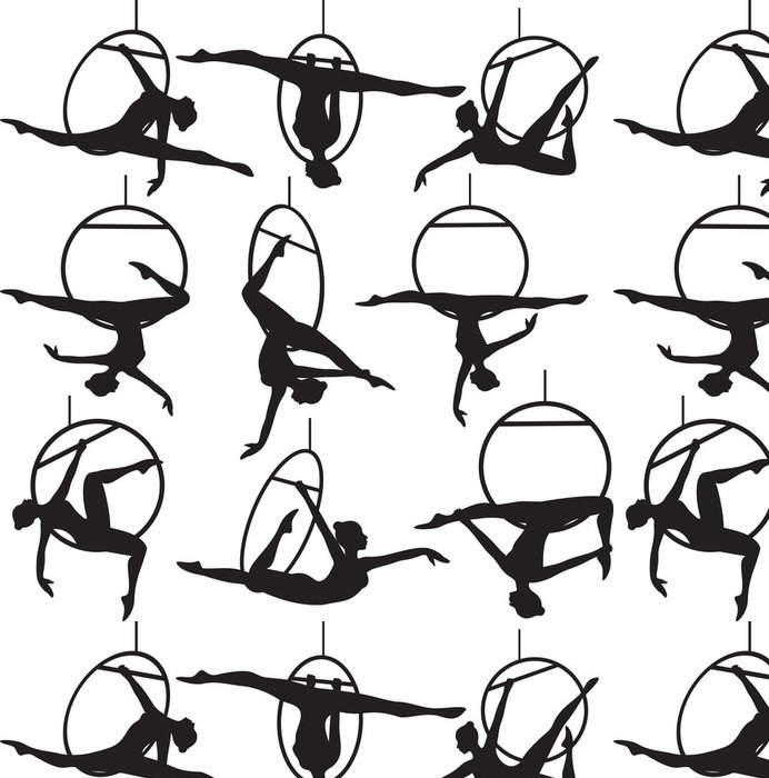 Tapeta Pixerstick Letecký akrobat obruč - Individuální sporty