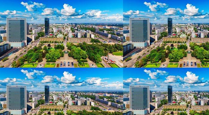 Tapeta Pixerstick Letecký panorama Varšavy, Polsko - Témata