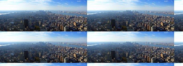 Tapeta Pixerstick Letecký panoramatický výhled na dolní Manhattan, New yo - Americká města