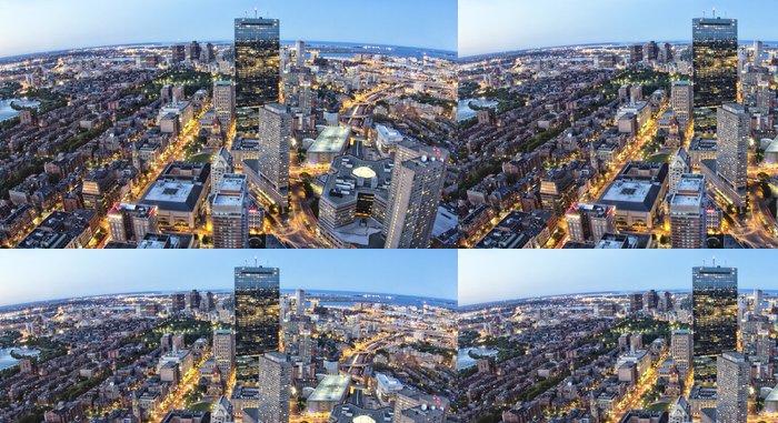 Tapeta Pixerstick Letecký pohled na Boston v Massachusetts, USA - Amerika