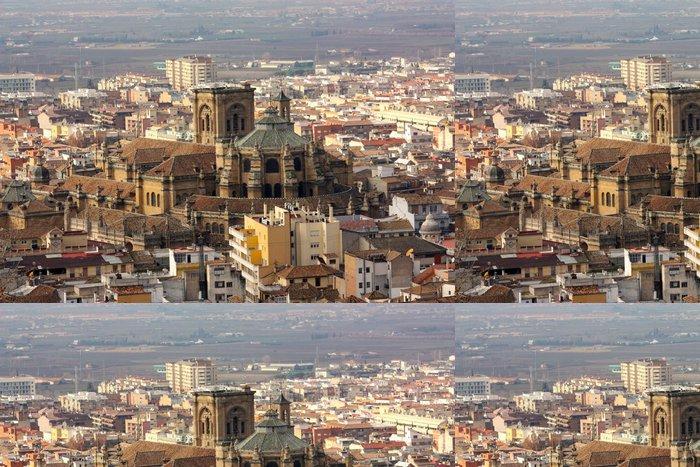 Vinylová Tapeta Letecký pohled na katedrálu Granada v Andalusii, Spian - Prázdniny