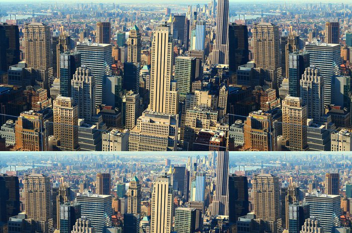 Vinylová Tapeta Letecký pohled na Manhattan - Americká města