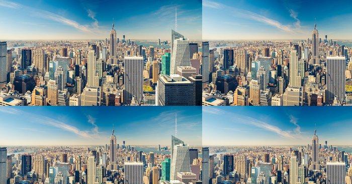 Tapeta Pixerstick Letecký pohled na Manhattan - Témata