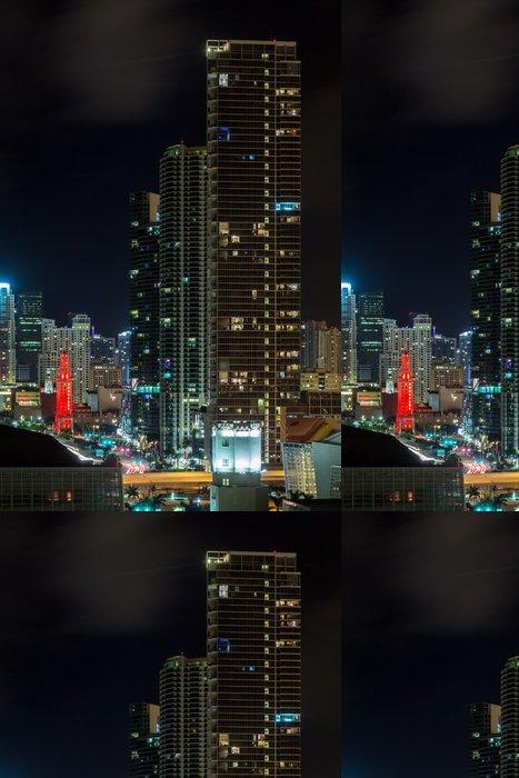 Tapeta Pixerstick Letecký pohled na Miami Downtown - Město