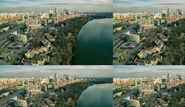 Tapeta Pixerstick Letecký pohled na Moskvě Moskva řeky - Can-Am