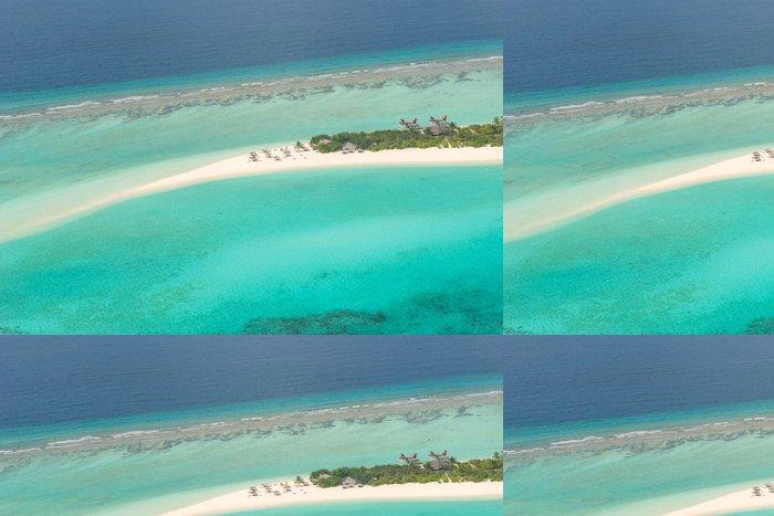Vinylová Tapeta Letecký pohled na ostrov na Maledivách - Prázdniny