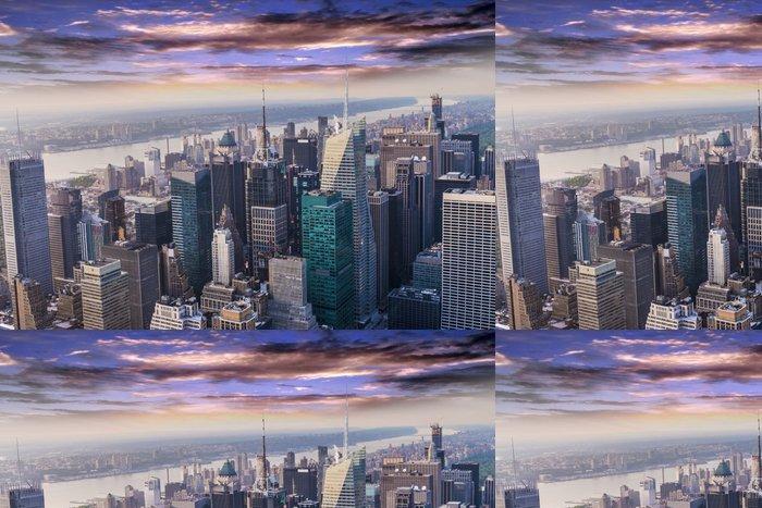 Vinylová Tapeta Letecký pohled na panorama Manhattanu - Americká města