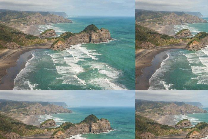 Tapeta Pixerstick Letecký pohled na pobřeží Nového Zélandu - Oceánie