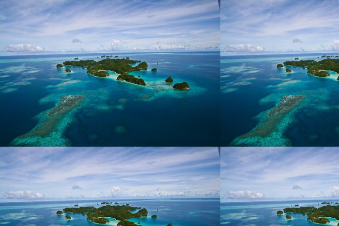 Tapeta Pixerstick Letecký pohled na souostroví Palau - Ostatní Ostatní