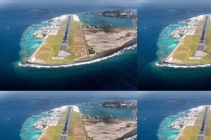 Vinylová Tapeta Letiště městského Muž v Maledivy regionu - Prázdniny