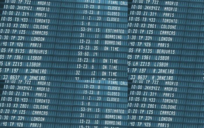 Tapeta Pixerstick Letiště odletu palubní informační - Prázdniny