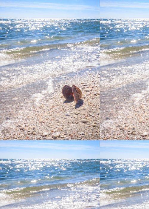Tapeta Pixerstick Letní čas Sea Shell na pláži - Prázdniny