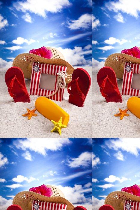 Vinylová Tapeta Letní dovolená, opalování se na pláži - Zábava