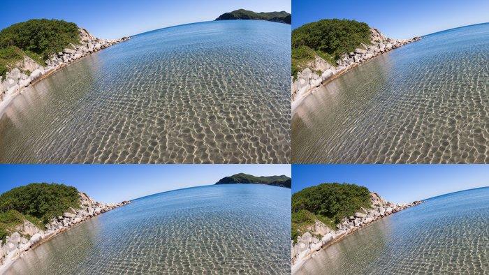 Tapeta Pixerstick Letní krajina skalnaté pobřeží moře - Voda