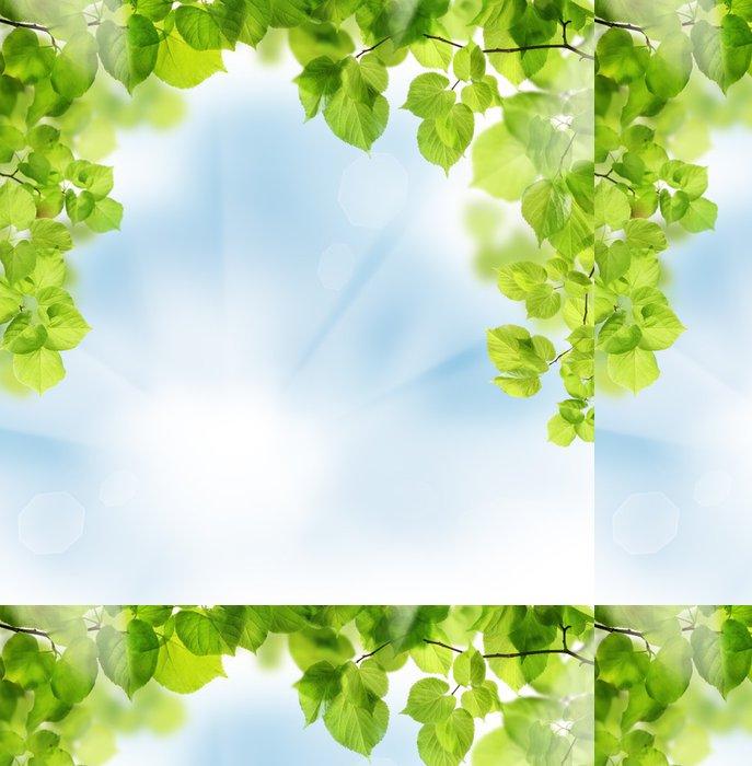 Tapeta Pixerstick Letní listy na květinové zeleně pozadí - Roční období