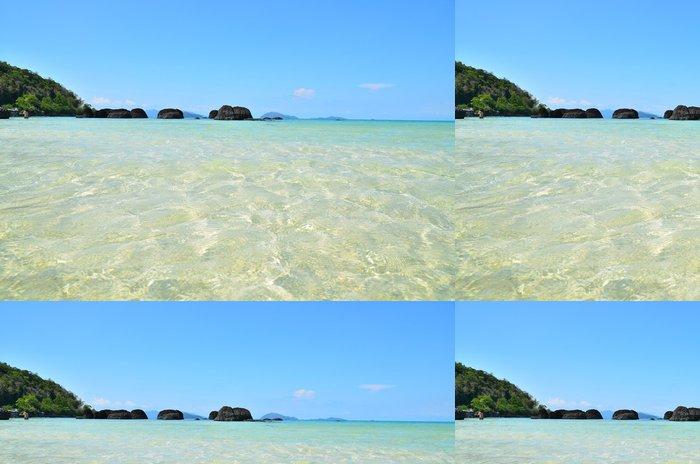 Tapeta Pixerstick Letní pláž na ostrově - Ostrovy