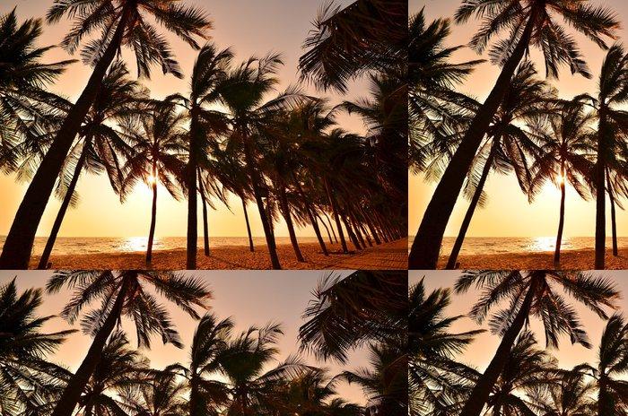 Vinylová Tapeta Letní západ slunce na pláži - Voda