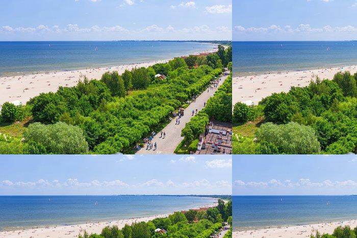 Vinylová Tapeta Léto u pláže Baltského moře v Sopotech, Polsko - Evropa