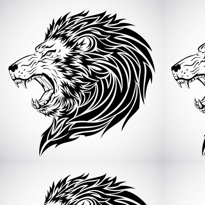 Tapeta Pixerstick Lev tetování - Imaginární zvířata