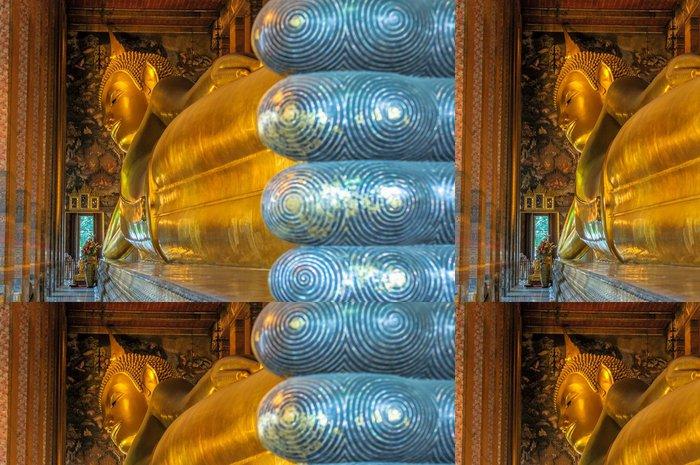 Tapeta Pixerstick Ležícího Buddhy, Wat Pho, Bangkok, Thajsko - Náboženství