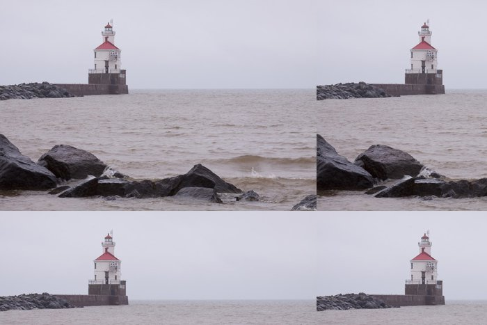 Tapeta Pixerstick Lighthouse Point Wisconsin - Infrastruktura