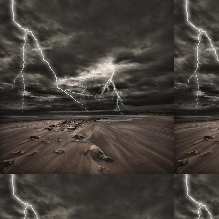 Tapeta Pixerstick Lightning bouřky na moři - Příroda a divočina