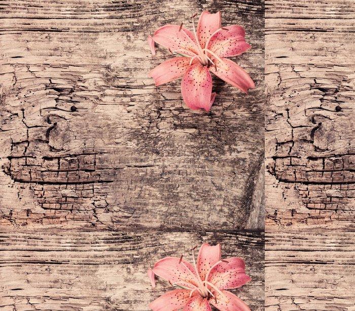 Tapeta Pixerstick Lily na dřevěné pozadí - Struktury