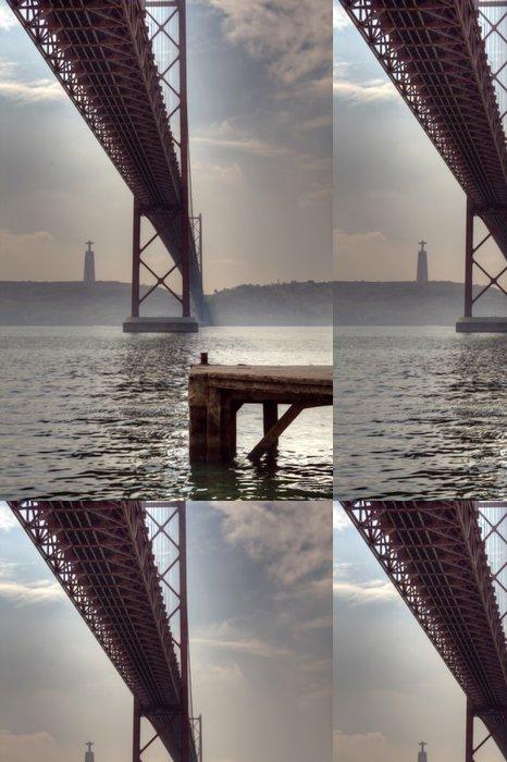 Vinylová Tapeta Lisabon most HDR - Evropská města