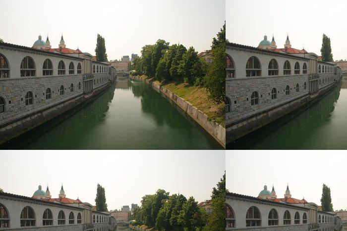 Tapeta Pixerstick Ljublana River - Město