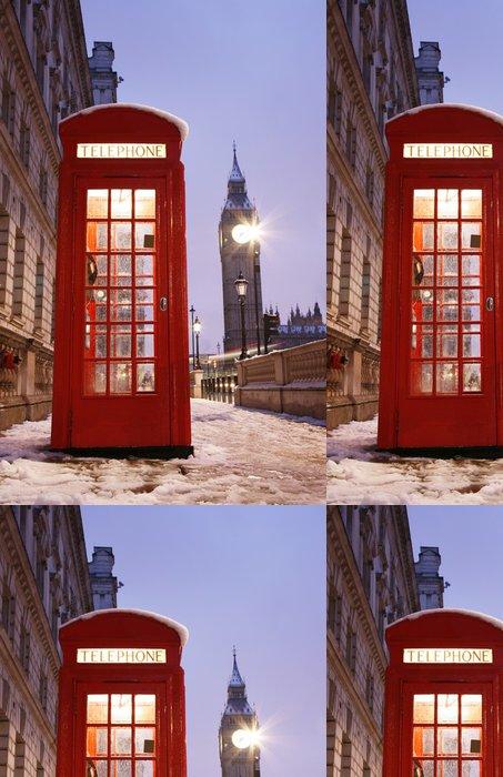 Tapeta Pixerstick Londýn Telefonní budka a Big Ben - Témata