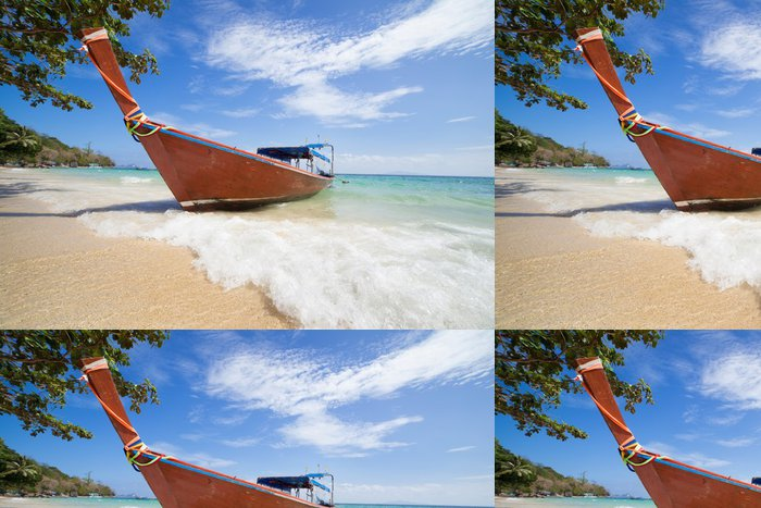 Tapeta Pixerstick Long tailed lodí v Thajsku - Prázdniny