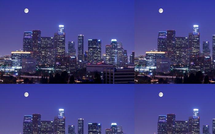 Vinylová Tapeta Los Angeles panorama za měsíčního svitu - Témata