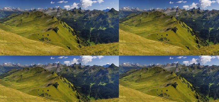 Vinylová Tapeta Louka ve švýcarských Alpách a jezera Vierwaldstättersee - Evropa