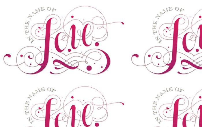 Tapeta Pixerstick Love vlastní typografii - Osud