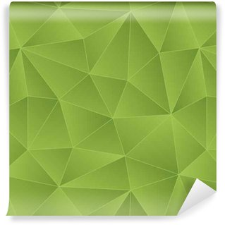 Vinylová Tapeta Low Poly Seamless Background zelení barvy.