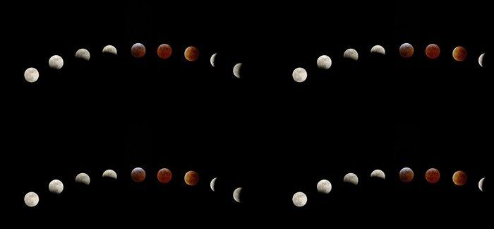 Tapeta Pixerstick Lunar Eclipse - Meziplanetární prostor