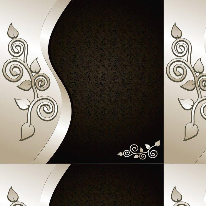 Tapeta Pixerstick Luxury Pozadí zdobí květinový ornament: stříbrná a černá. - Pozadí