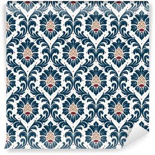 Vinylová Tapeta Luxusní staromódní damaškový ornament, královská viktoriánská bezproblémová textura pro tapety, textil, obal. nádherná květinová barokní šablona.