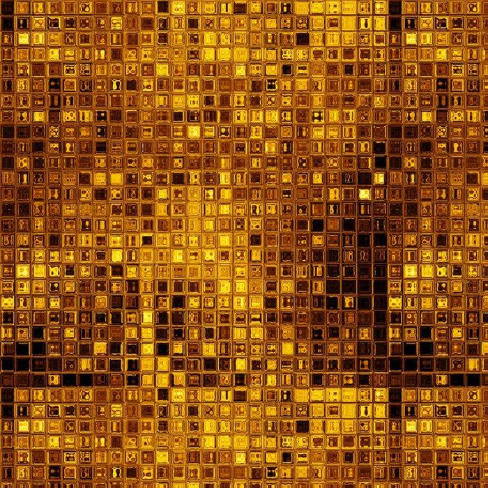 Tapeta Pixerstick Luxusní zlaté mozaiky - Struktury