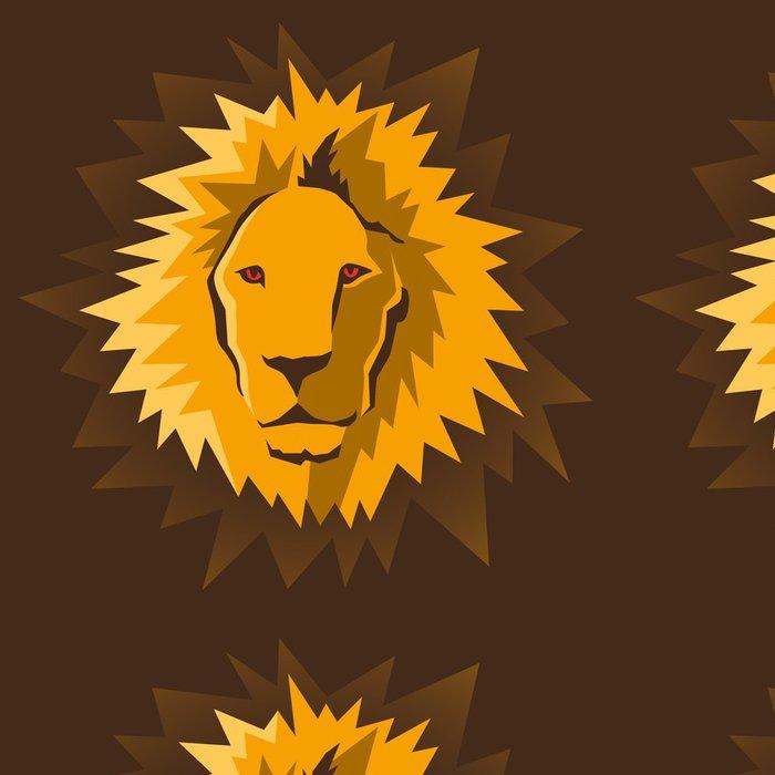 Vinylová Tapeta Lví hlava. - Savci