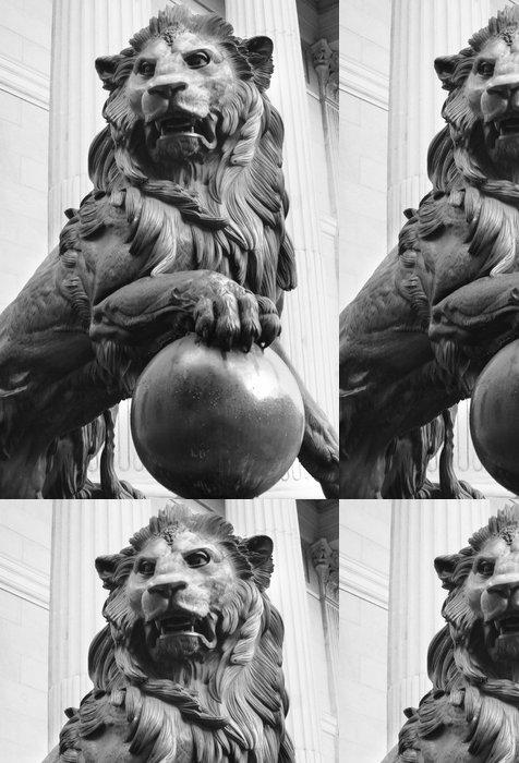 Tapeta Pixerstick Lví král - bronzová socha lva - Savci