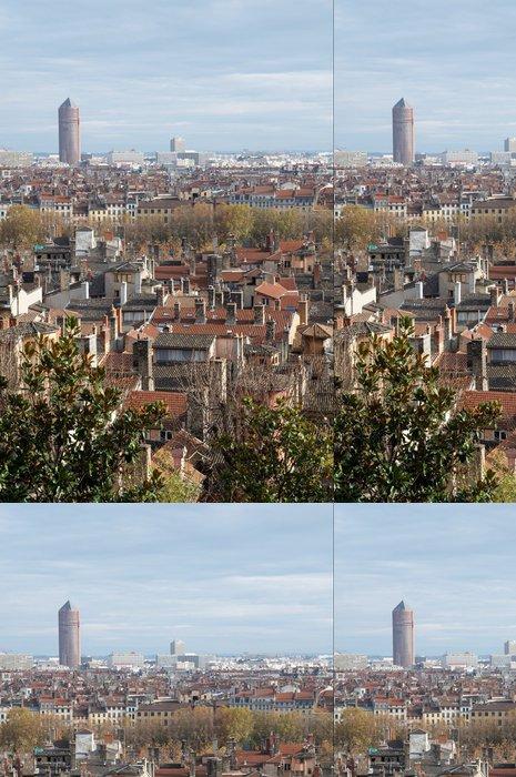 Tapeta Pixerstick Lyon a střechy - Město