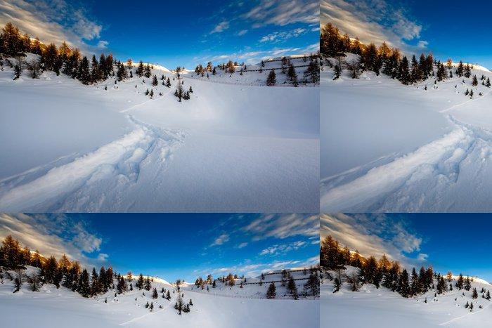 Tapeta Pixerstick Madonna di Campiglio lyžařské středisko v italských Alpách, Itálii - Evropa