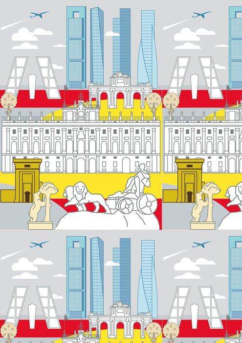 Tapeta Pixerstick Madrid Památky - Evropská města