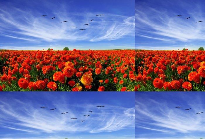 Tapeta Pixerstick Magnificent pole červené blatouchy - Zemědělství